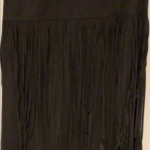 Dresses - Faux suede dress with fringe